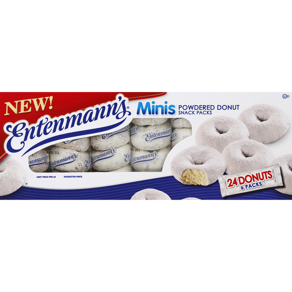 Entenmann's Mini Donuts Powdered Snack Packs - 24 ct