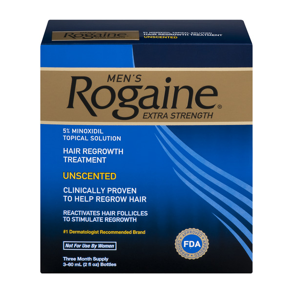 Men's Rogaine Extra Strength Hair Regrowth Treatment Unscented - 3 ct