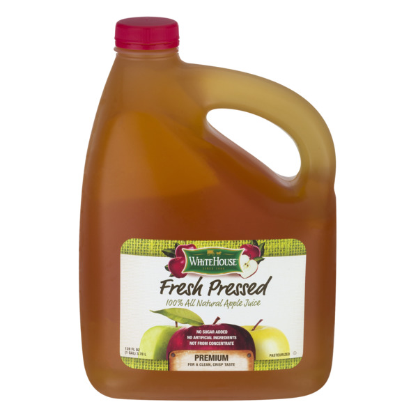 White House Fresh Pressed 100% All Natural Apple Juice