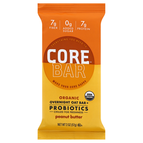 Core Overnight Oat Bar Peanut Butter Organic