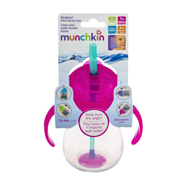 Munchkin Weighted Flexi-Straw Cup BPA Free 6+m