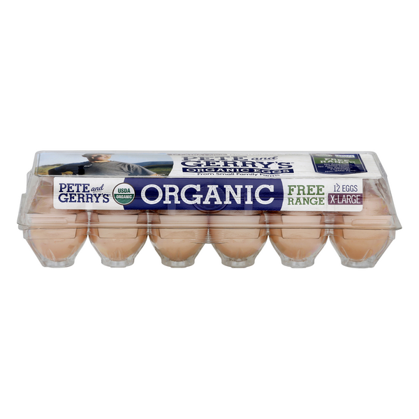 Pete and Gerry's Extra Large Brown Eggs Free Range Organic
