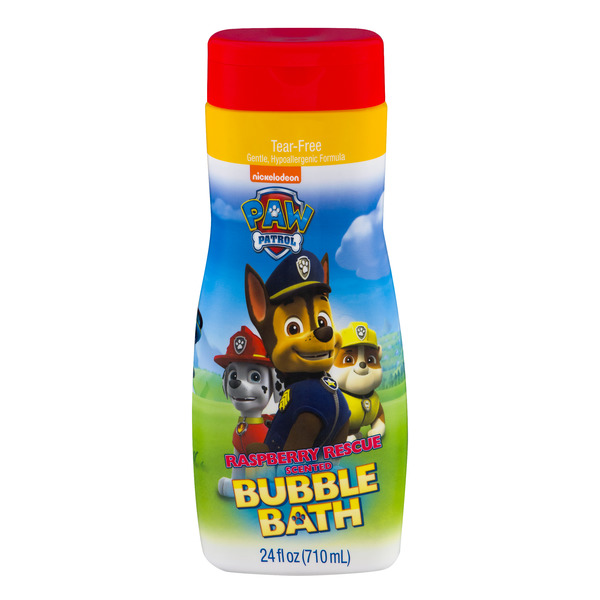 Paw Patrol Raspberry Rescue Scented Bubble Bath Tear-Free