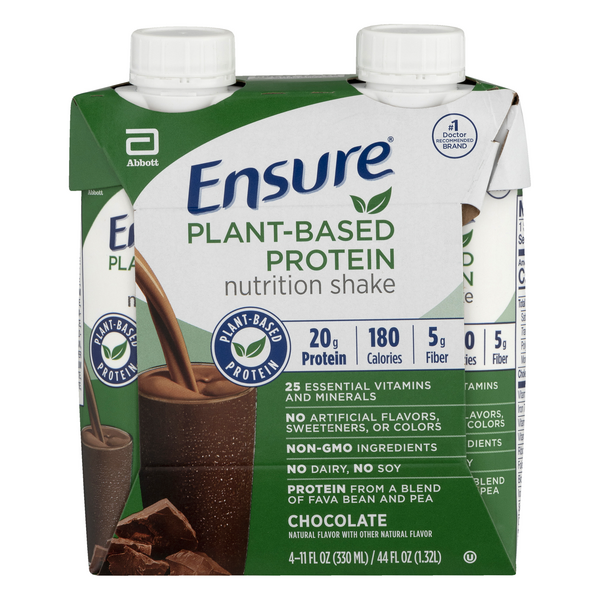 Ensure Nutrition Shake Plant-Based Protein Chocolate - 4 pk