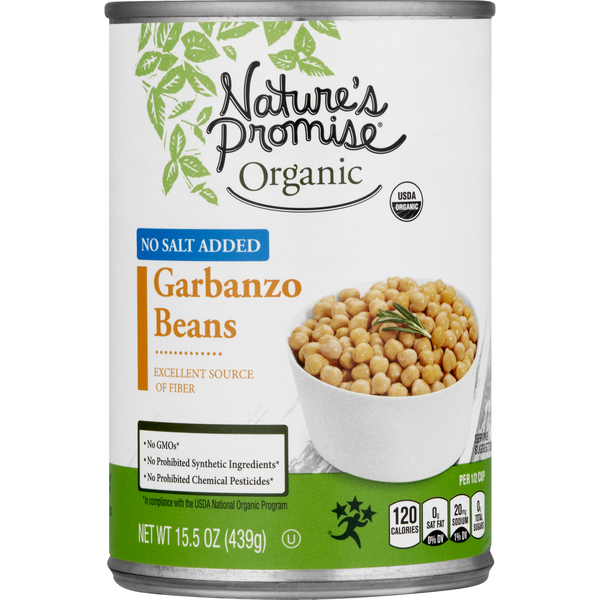 Nature's Promise Organic Garbanzo Beans No Salt Added