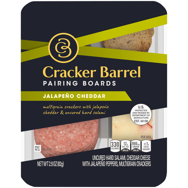Cracker Barrel Pairing Boards Jalapeno Cheddar with Multigrain Crackers