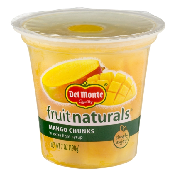 Del Monte Fruit Naturals Mango Chunks in Extra Light Syrup