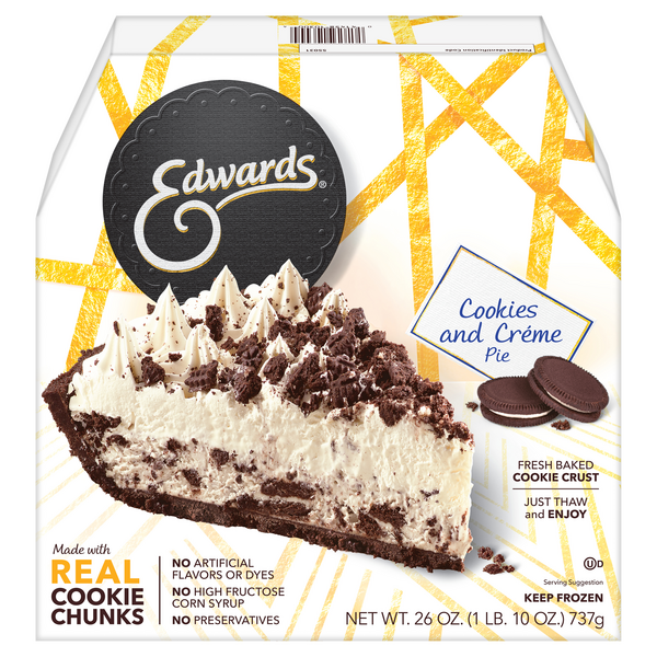 Edwards Pie Cookies & Creme Thaw & Serve Frozen
