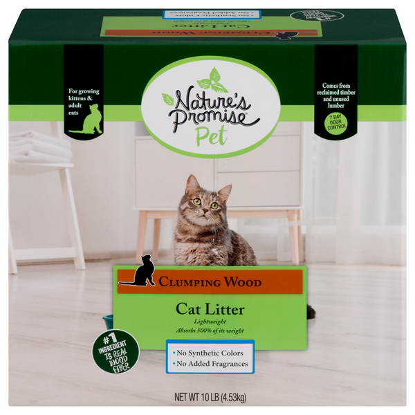 Nature's Promise Free from Lightweight Cat Litter Clumping Wood