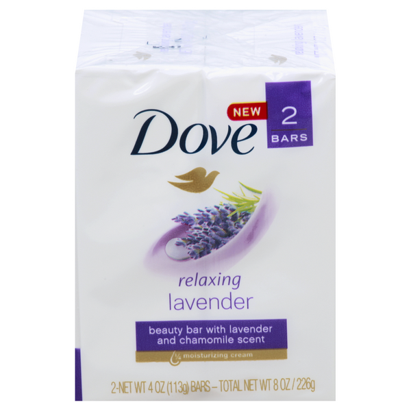 Dove Relaxing Beauty Bar Lavender - 2 ct
