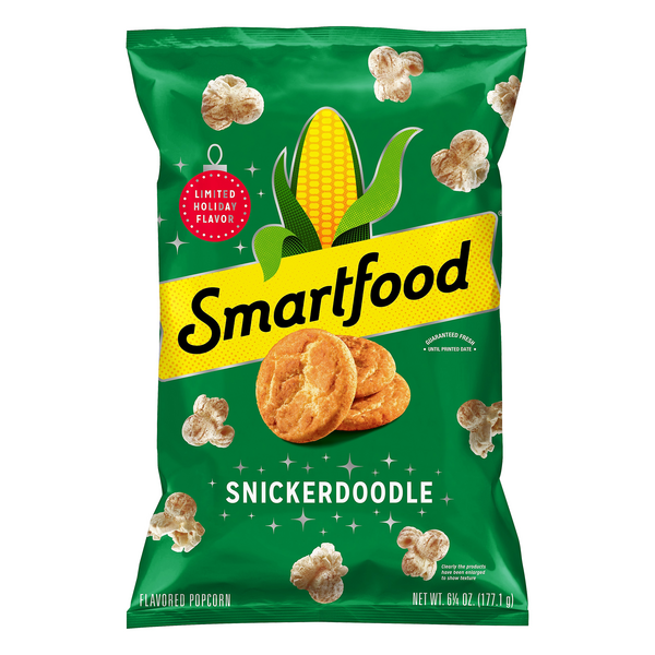 Smartfood Popcorn Snickerdoodle Limited Holiday Flavored