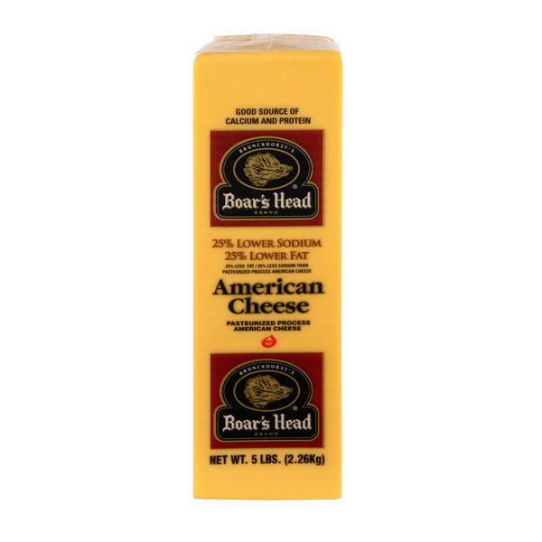 Boar's Head Deli American Cheese Yellow Low Fat/Lower Sodium (Thin Sliced)