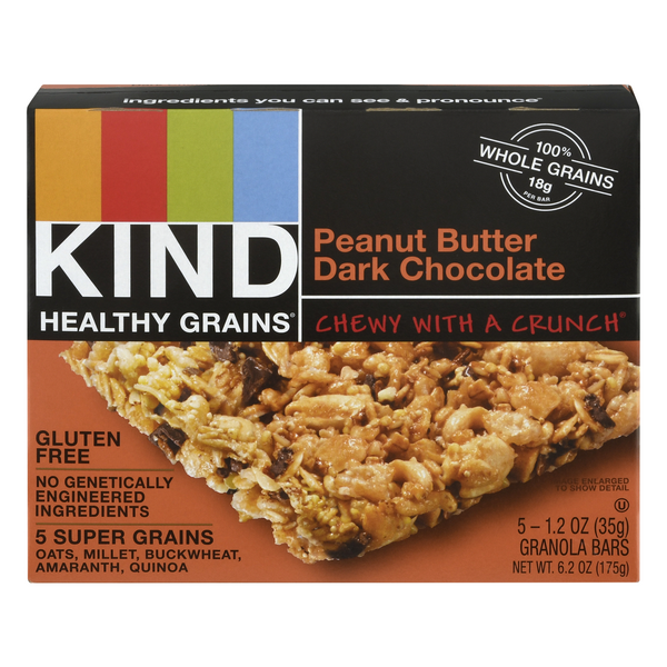 KIND Healthy Grains Granola Bars Peanut Butter Dark Chocolate - 5 ct