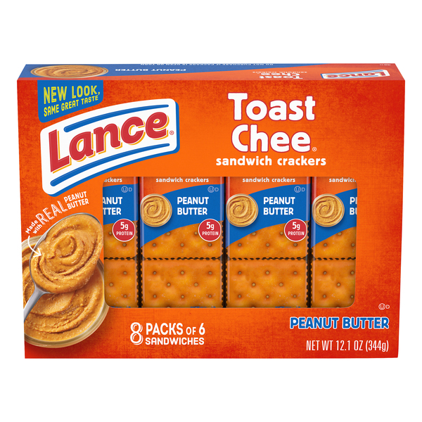 Lance Toast Chee Sandwich Crackers Peanut Butter - 8 ct