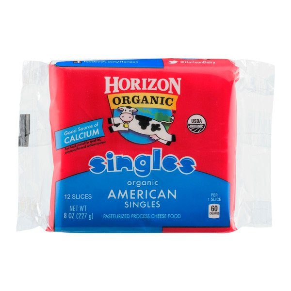 Horizon Organic American Cheese Food Singles - 12 ct