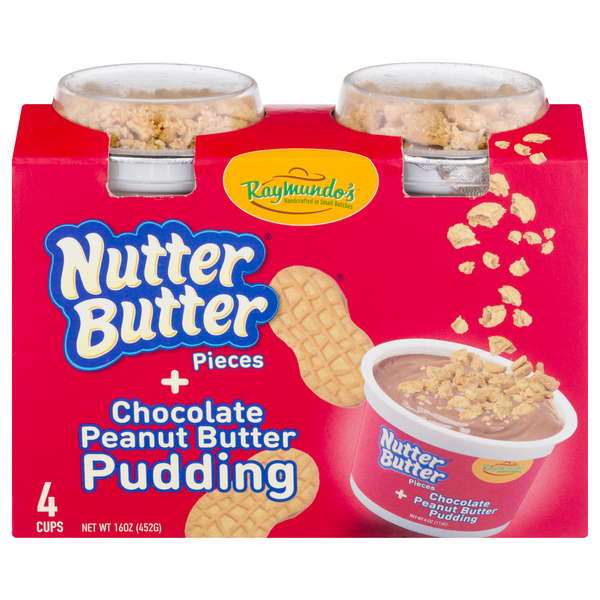 Raymundo's Nutter Butter Pieces + Chocolate Peanut Butter Pudding - 4 ct