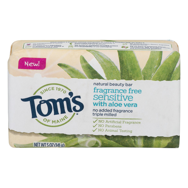 Tom's of Maine Sensitive Fragrance Free Soap with Aloe Vera