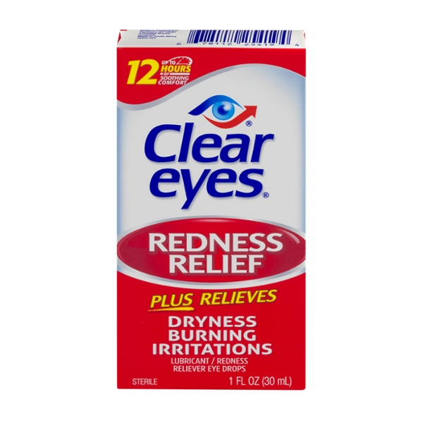 Clear Eyes Redness Relief Eye Drops Redness Reliever Lubricant