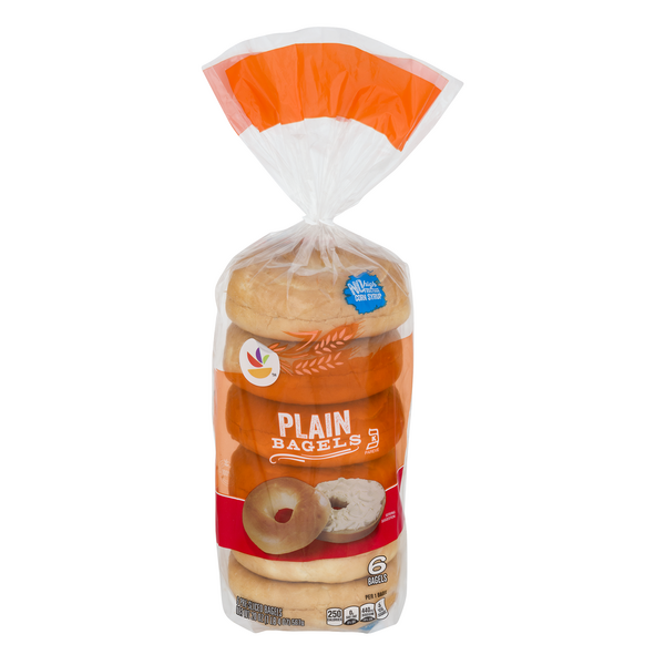 MARTIN'S Bagels Plain Pre-Sliced - 6 ct