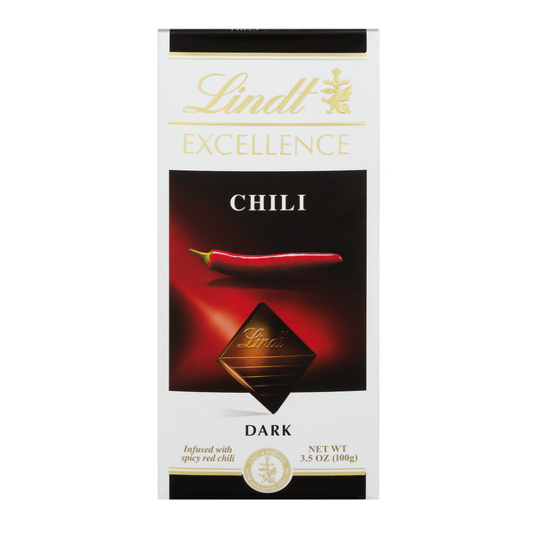 Lindt Excellence Dark Chocolate Bar Chili