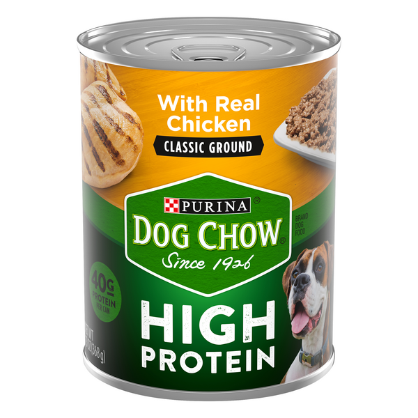 Purina Dog Chow Wet Dog Food Classic Ground with Real Chicken High Protein