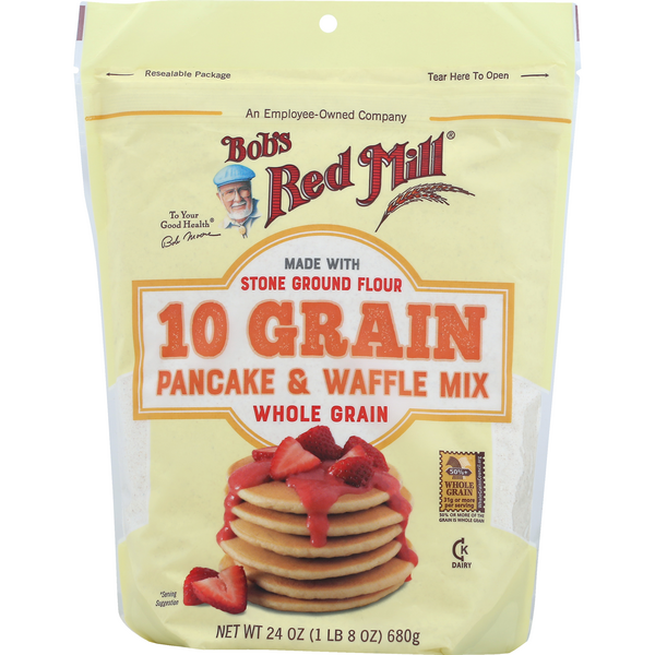 Bob's Red Mill 10 Grain Pancake & Waffle Mix Whole Grain