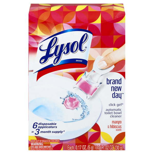 Lysol Brand New Day Automatic Gel Toilet Bowl Cleaner Mango & Hibiscus