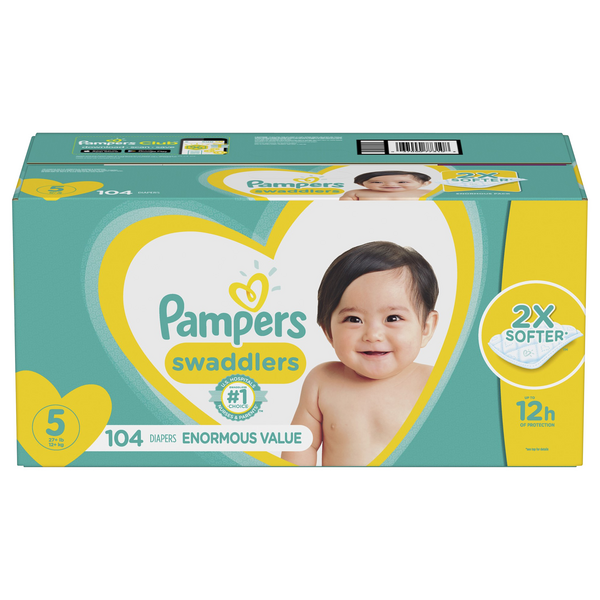 Pampers Swaddlers Size 5 Diapers 27+ lbs