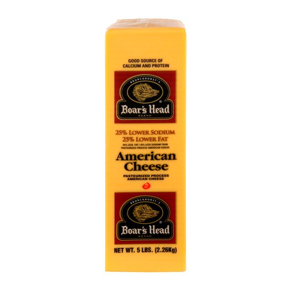 Boar's Head Deli American Cheese Yellow (Thin Sliced)