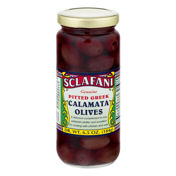 Sclafani Pitted Greek Calamata Olives