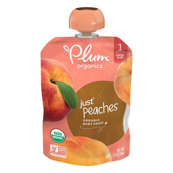 Plum Organics Stage 1 Baby Food Just Peaches Organic