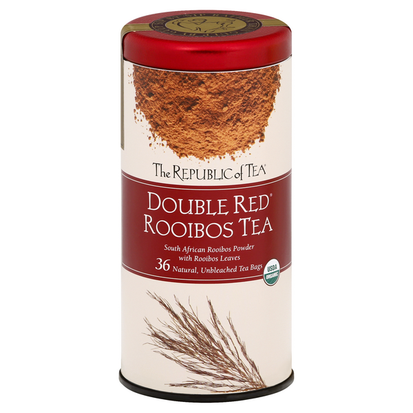 The Republic of Tea Double Red Rooibos Tea Bags Organic