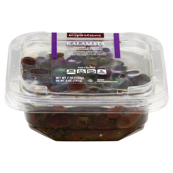 Taste of Inspirations Kalamata Jumbo Pitted Seasoned Olives