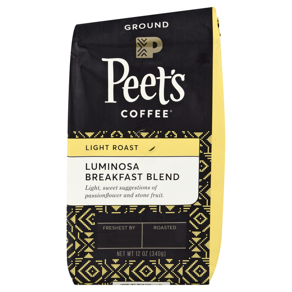 Peet's Coffee Breakfast Blend Luminosa Light Roast Coffee (Ground)
