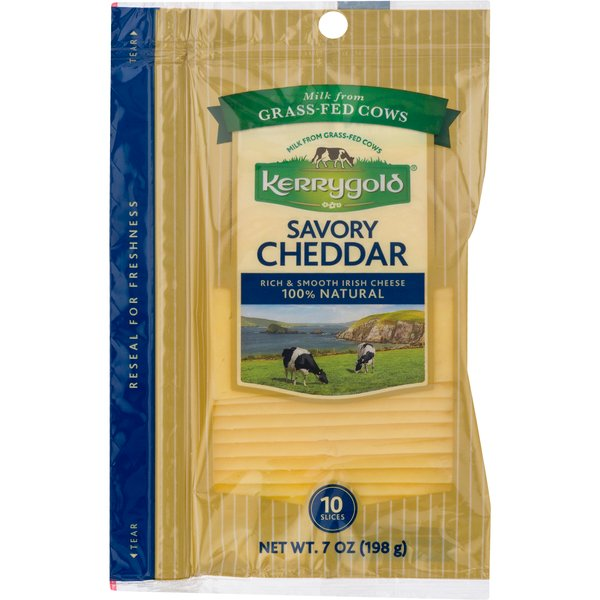 Kerrygold Cheddar Cheese Savory Slices - 10 ct