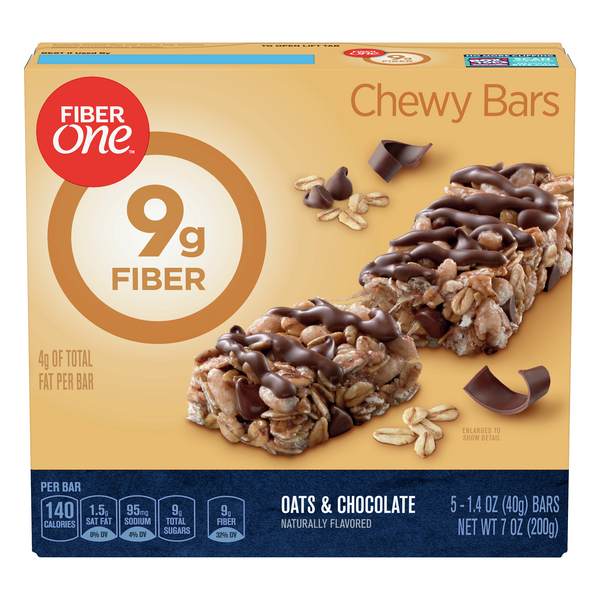 Fiber One Chewy Bars Oats & Chocolate - 5 ct