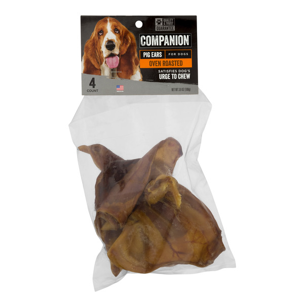 Companion Pig Ear Oven Roasted for Dogs - 4 ct