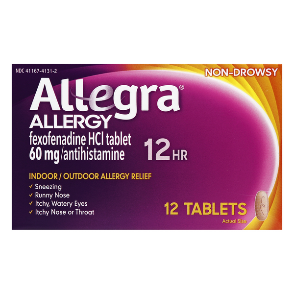 Allegra Allergy Relief 12 Hour Tablets
