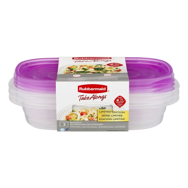 Rubbermaid TakeAlongs Containers & Lids Rectangle 4 Cup