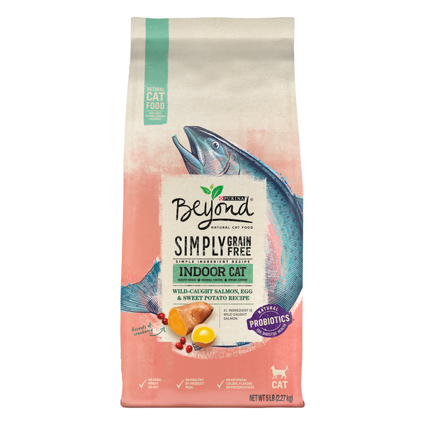 Beyond Simply Grain Free Indoor Dry Cat Food Salmon Egg & Sweet Potato