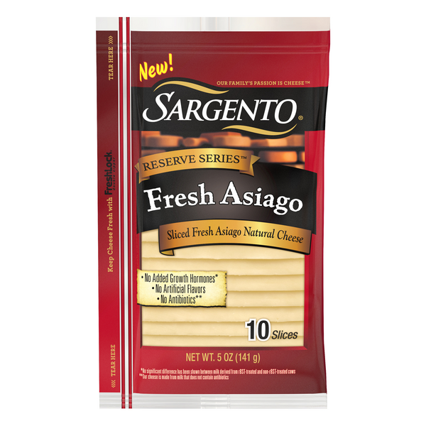 Sargento Reserve Series Fresh Asiago Sliced - 10 ct