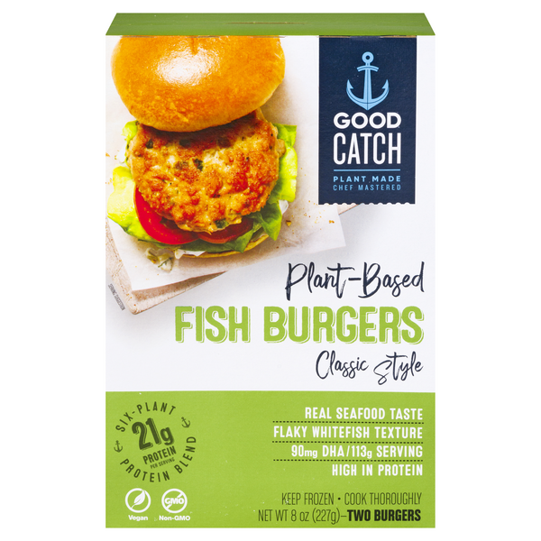 Good Catch Plant-Based Classic Style Fish Burgers - 2 ct