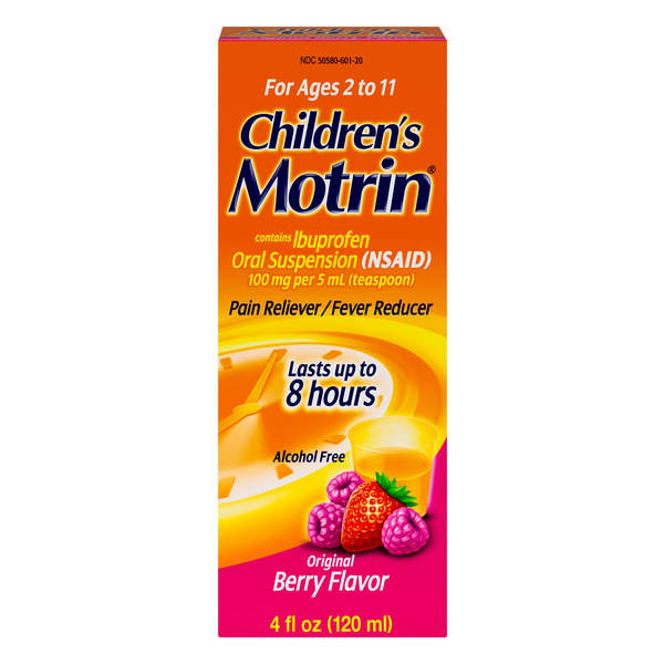 Motrin Children's Ibuprofen Oral Suspension Original Berry Flavor