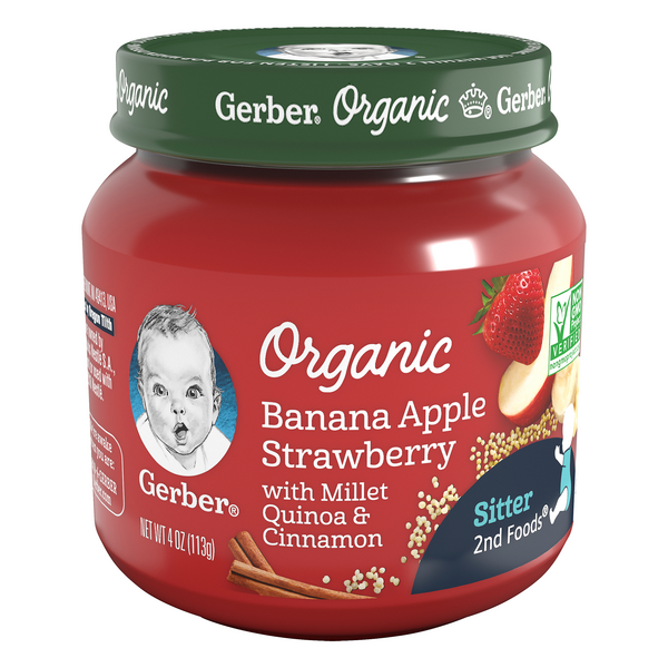 Gerber 2nd Baby Food Banana Apple Strawberry Organic
