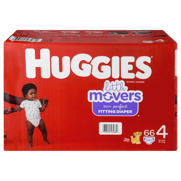 Huggies Little Movers Size 4 Diapers 22-37 lbs