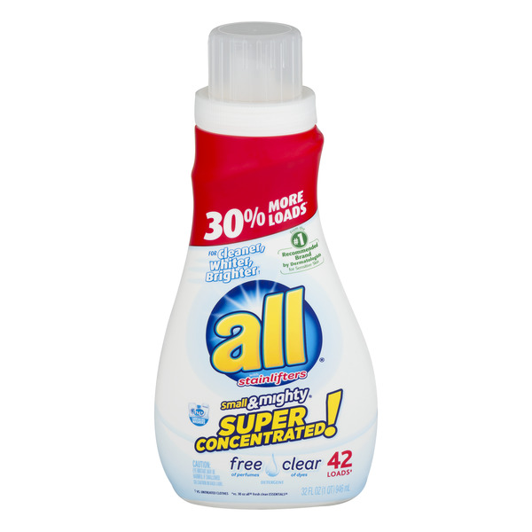 all Stainlifters Liquid Laundry Detergent Super Concentrated Free Clear