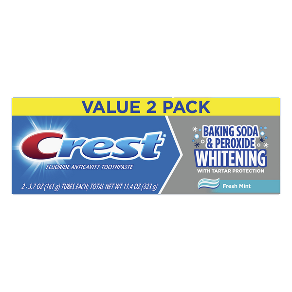 Crest Baking Soda & Peroxide Whitening Toothpaste Fresh Mint - 2 ct
