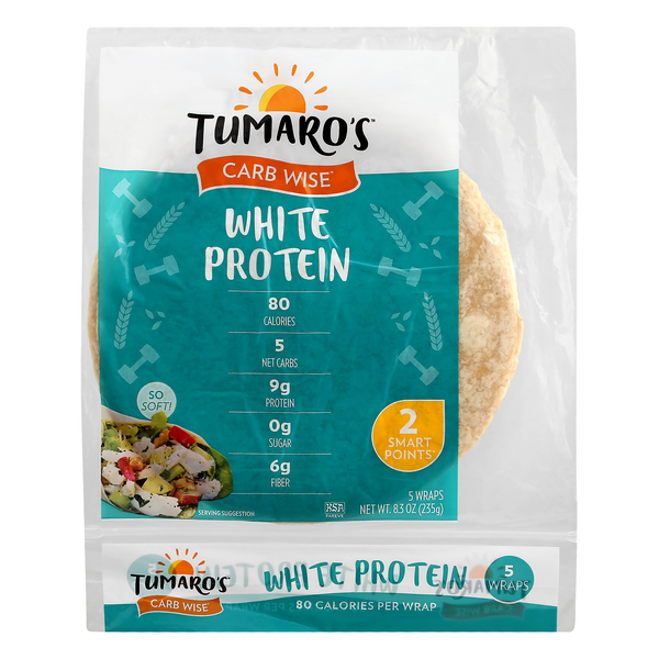 Tumaro's Carb Wise Protein Wraps Premium White - 5 ct