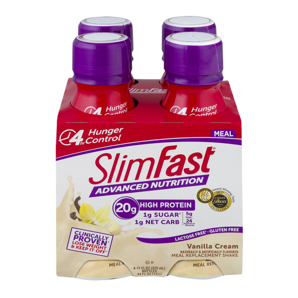 SlimFast Advanced Nutrition Meal Replacement Shake Vanilla Cream - 4 ct