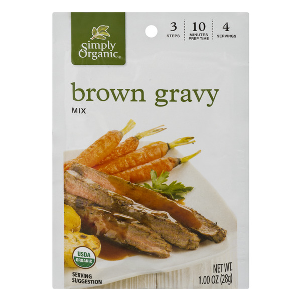Simply Organic Gravy Mix Packet Brown